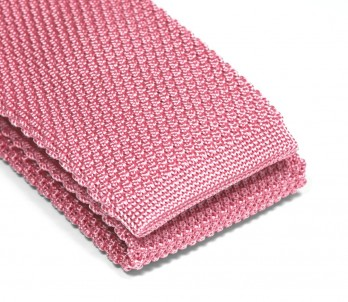 Cravate tricot rose pastel - Monza