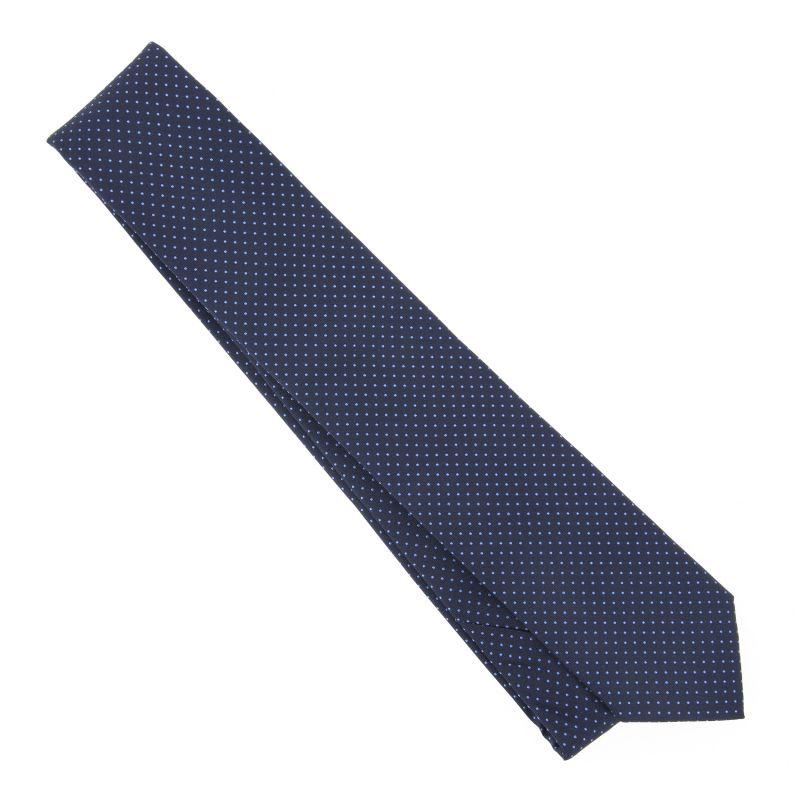 Cravate bleu marine pois rouge the nines la maison de - La maison de la cravate ...