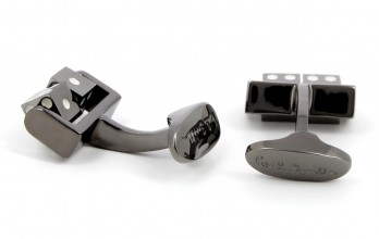 Boutons de manchette Paul Smith - Dés Tournants gunmetal