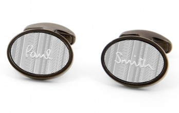 Boutons de manchette Paul Smith - Ovale Logo gunmetal
