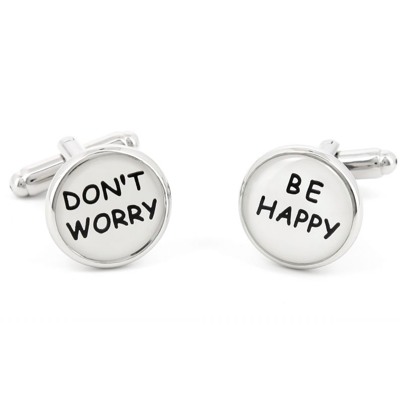 Boutons de manchette Don't Worry Be Happy