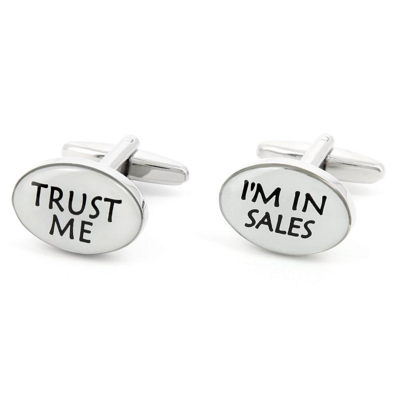 Boutons de manchette Trust Me I'm in Sales