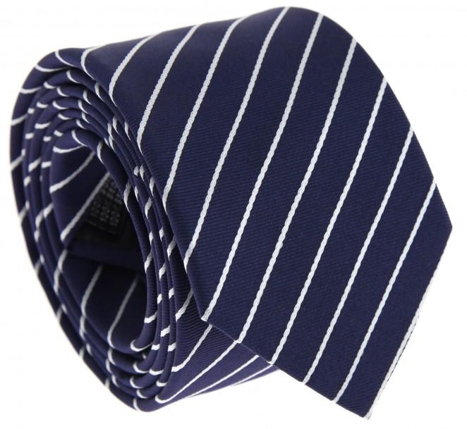 Cravate bleu marine rayures blanches loxwood la - La maison de la cravate ...