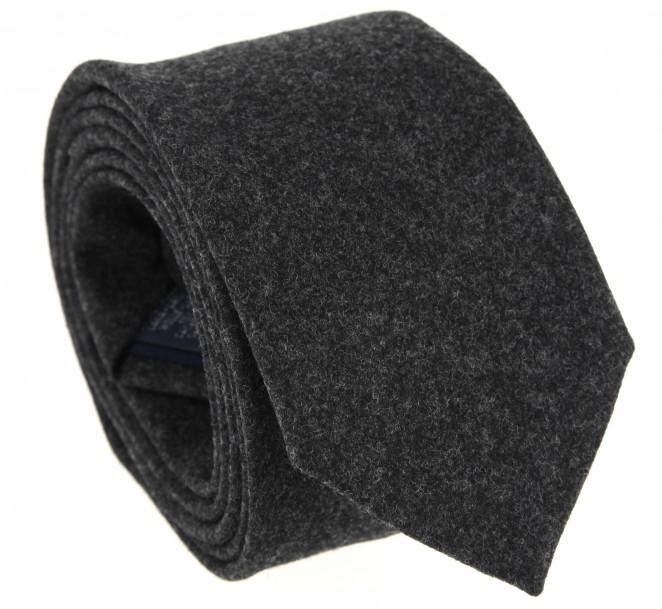 Cravate en flanelle anthracite the nines la maison de la - La maison de la cravate ...