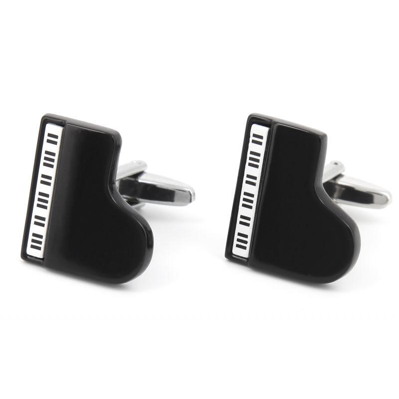 Boutons de manchette Piano bar