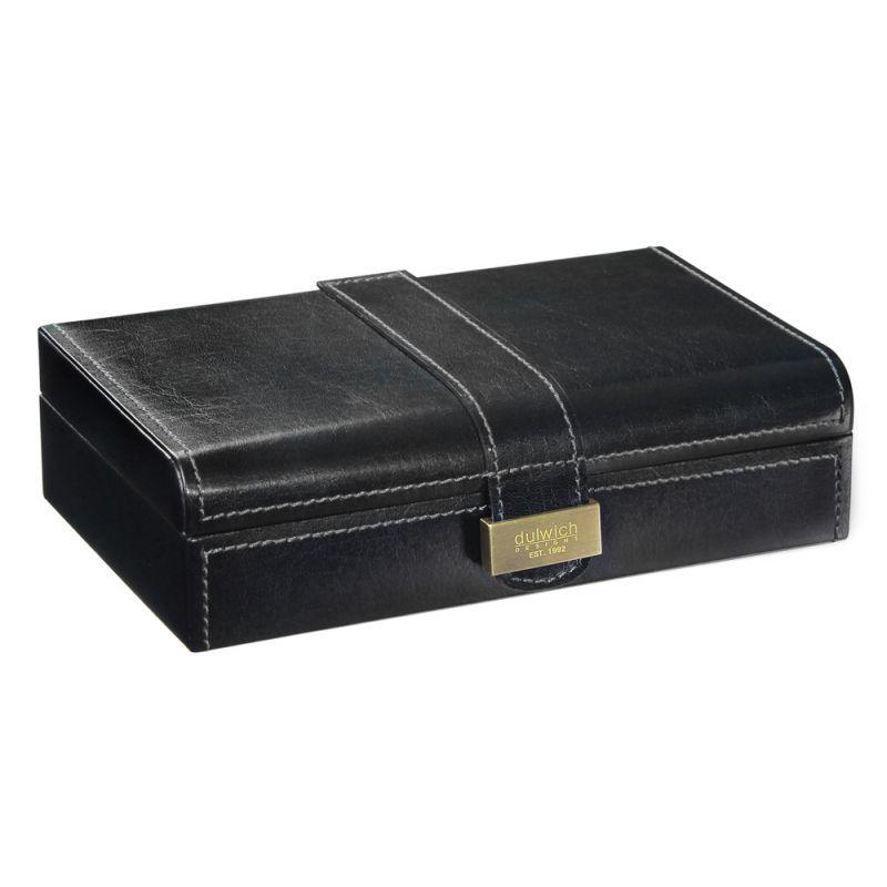 coffret rangement 15 paires noir la maison du bouton de manchette. Black Bedroom Furniture Sets. Home Design Ideas