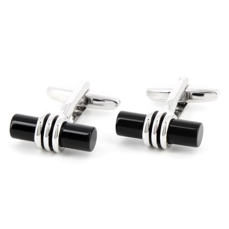 Boutons de manchette cylindriques noirs - Sparte