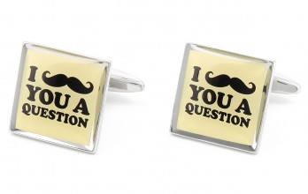 Boutons de manchette I Moustache You a Question