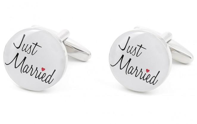 Boutons de manchette Just Married