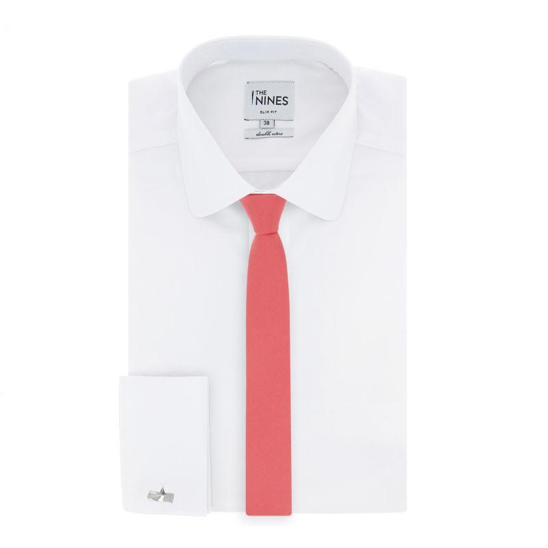 Cravate slim corail sienne la maison de la cravate - La maison de la cravate ...