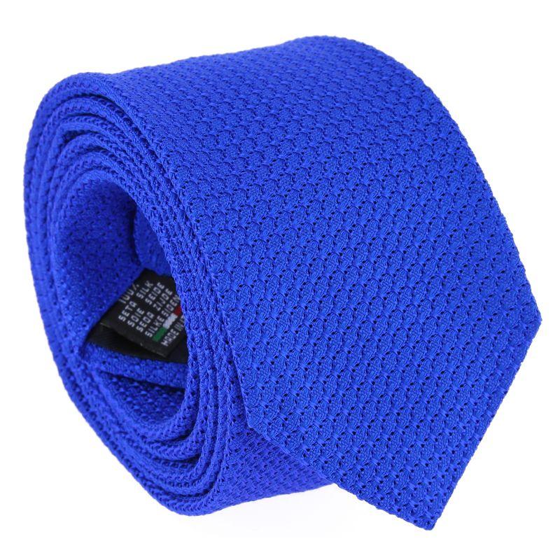 cravate en grenadine de soie the nines de couleur bleu klein. Black Bedroom Furniture Sets. Home Design Ideas