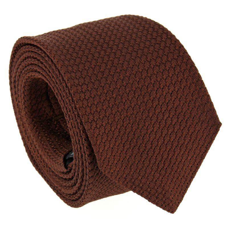 Cravate grenadine de soie The Nines marron - Grenadines III