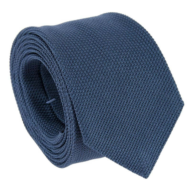 Cravate grenadine de soie bleu acier The Nines - Grenadines III