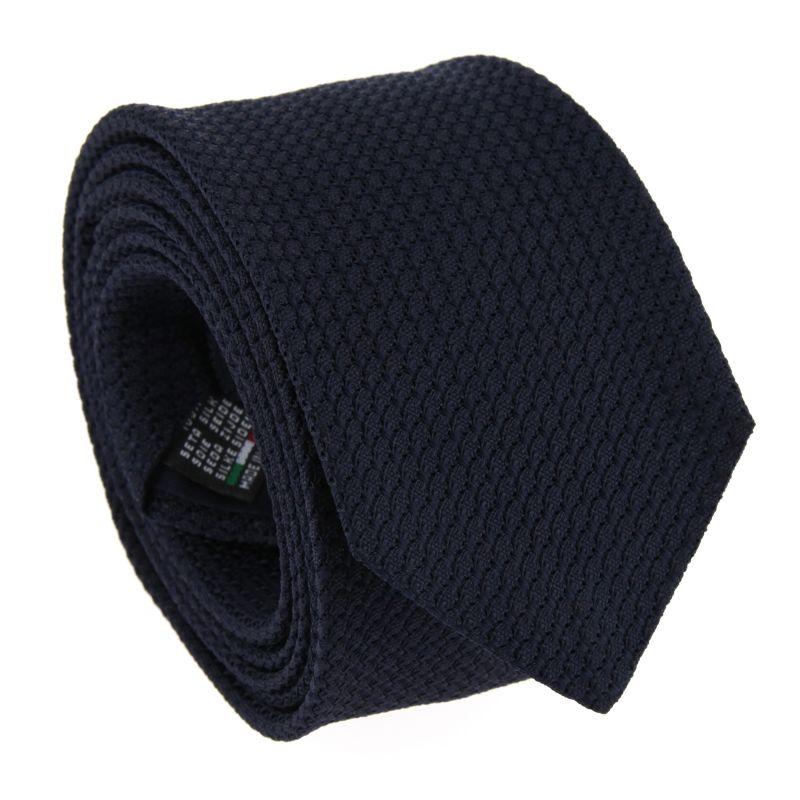 Cravate grenadine de soie The Nines bleu nuit - Grenadines IV