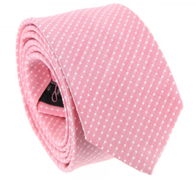 Cravate rose en soie et lin natt e gaeta la maison de - La maison de la cravate ...