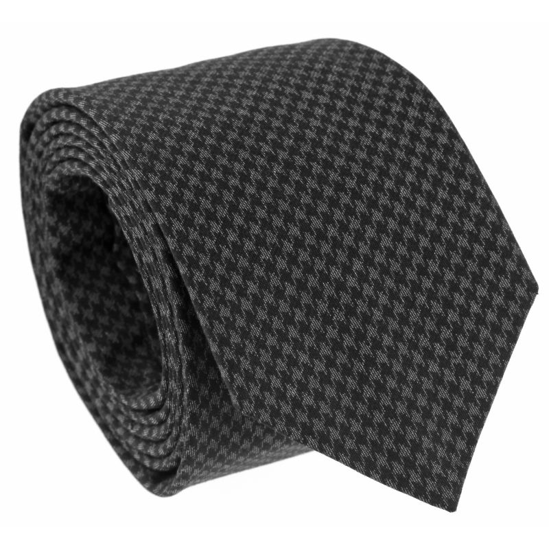 Cravate grise motif pied de poule the nines maison de la cravate - Motif pied de poule ...