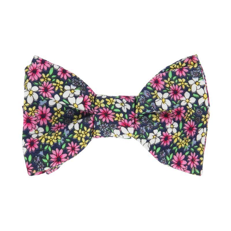 noeud papillon a fleurs multicolores the nines. Black Bedroom Furniture Sets. Home Design Ideas