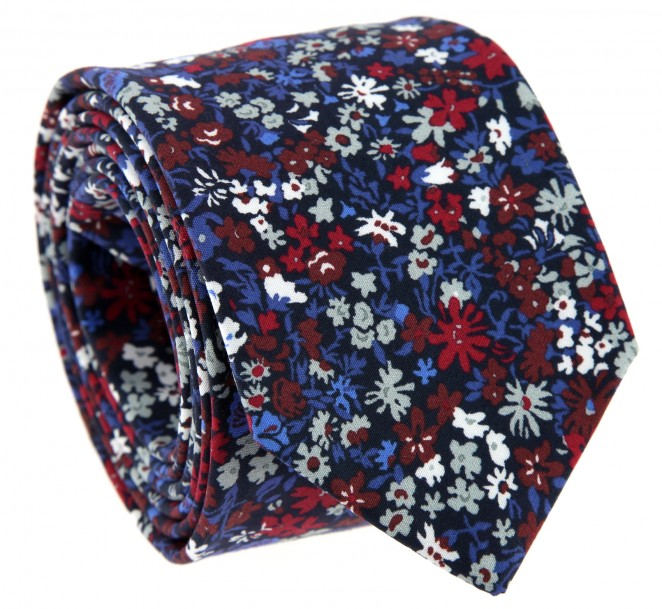 cravate a fleurs bordeaux - the nines