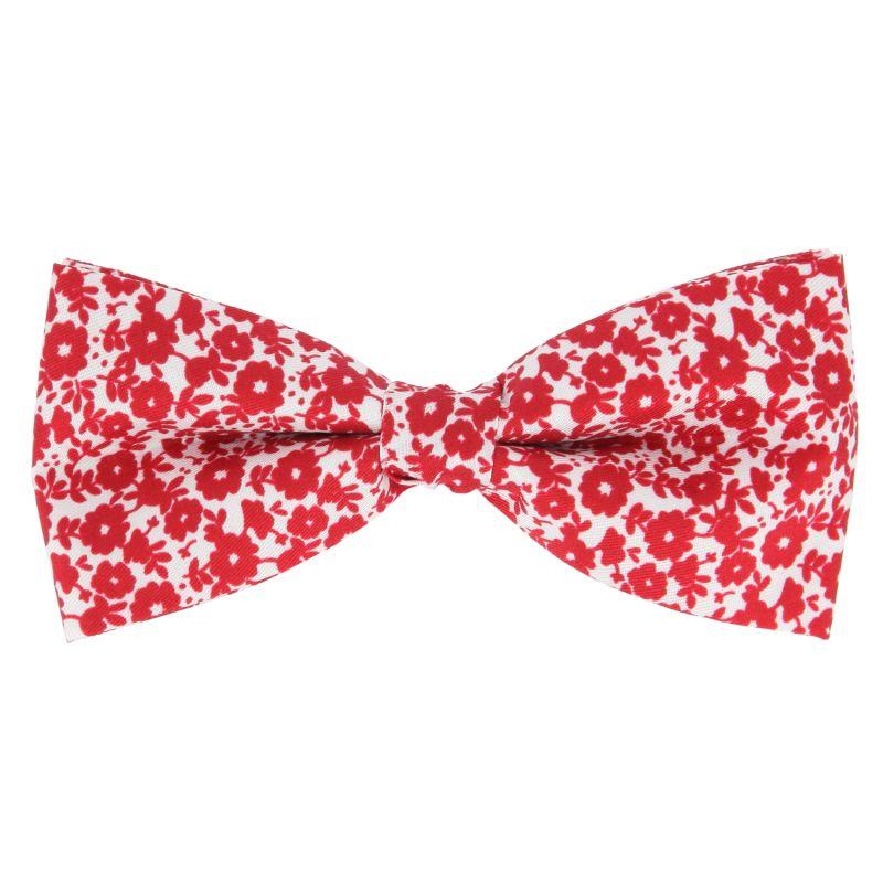 noeud papillon a fleurs rouges the nines. Black Bedroom Furniture Sets. Home Design Ideas