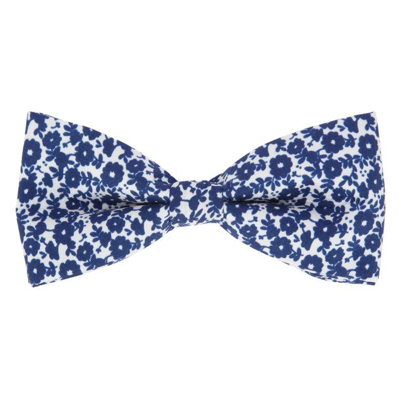 noeud papillon a fleurs bleu nuit the nines. Black Bedroom Furniture Sets. Home Design Ideas