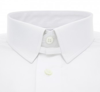 Chemise mousquetaire blanche col anglais slim fit