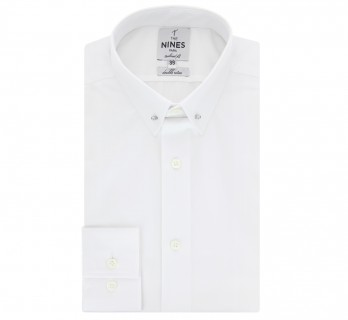 Chemise blanche col pin-collar tailored fit