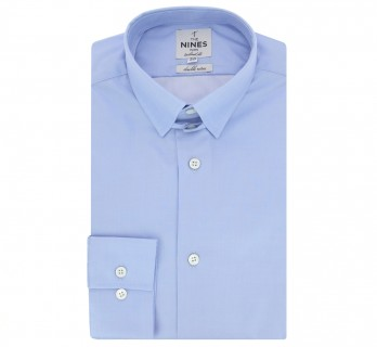 Chemise bleue col anglais tailored fit