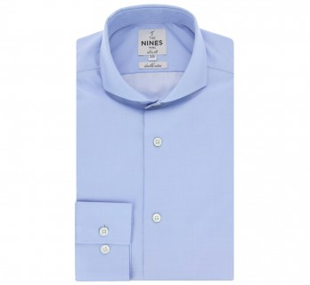 Chemise bleue col cutaway coupe extra slim