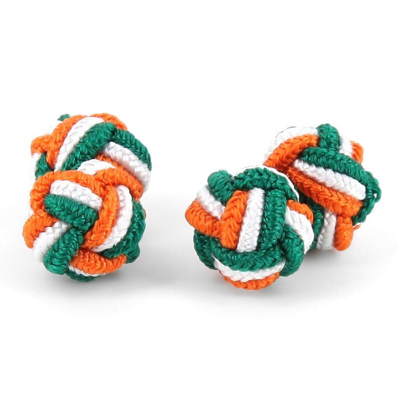 Passementerie tricolore vert, blanc et orange - Bombay
