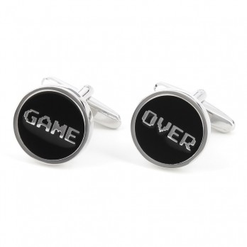 Boutons de manchette jeu - Game Over