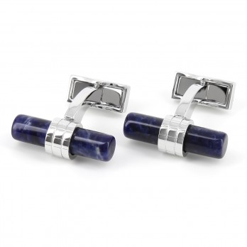Boutons de manchette cylindriques sodalite - Sparte II