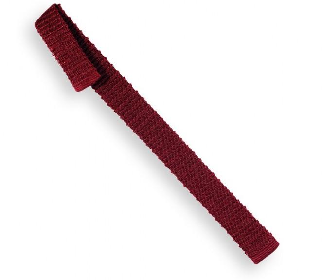 Cravate slim mod ne en tricot bordeaux la maison de la - La maison de la cravate ...