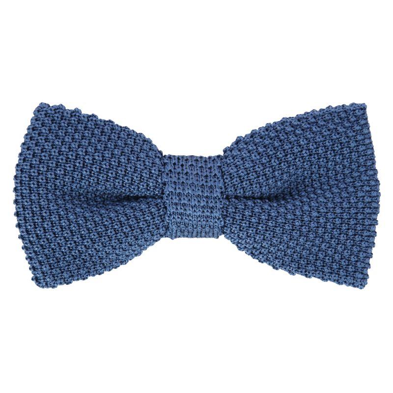 noeud papillon en tricot bleu mer du sud monza ii maison de la cravate. Black Bedroom Furniture Sets. Home Design Ideas