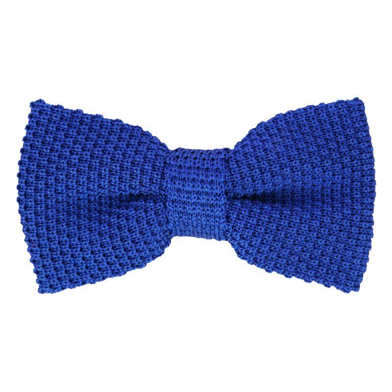 noeud papillon tricot bleu lectrique monza vente cravate maison de la cravate. Black Bedroom Furniture Sets. Home Design Ideas