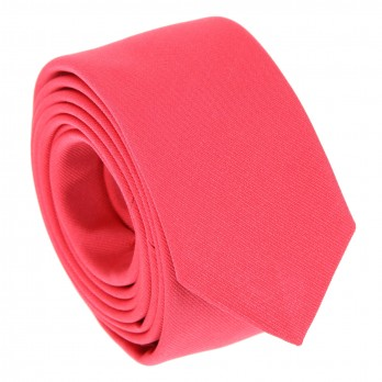 Cravate slim rose corail - Sienne