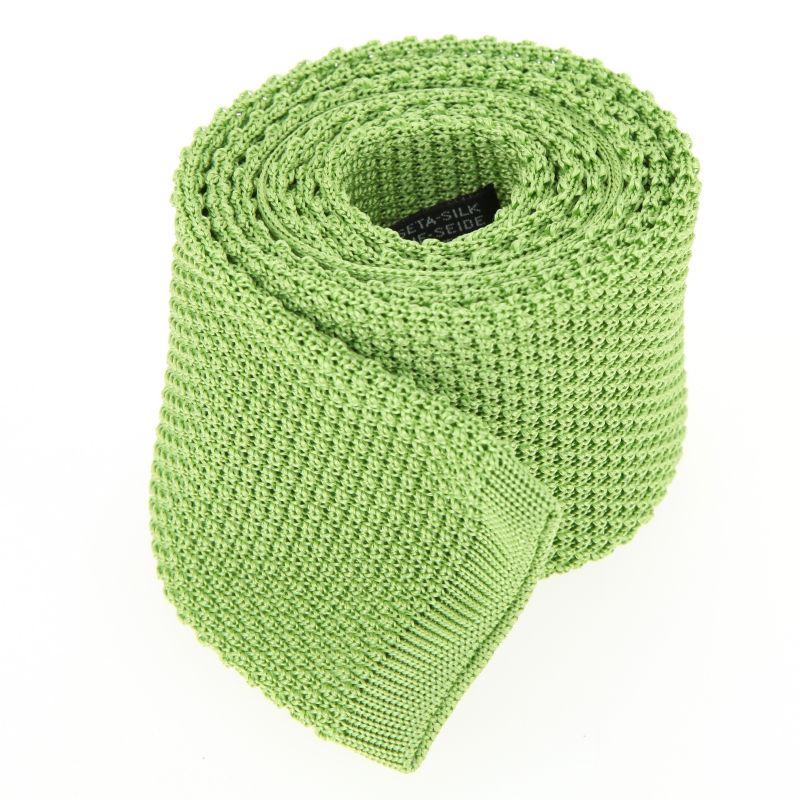 Cravate tricot vert anis - Monza