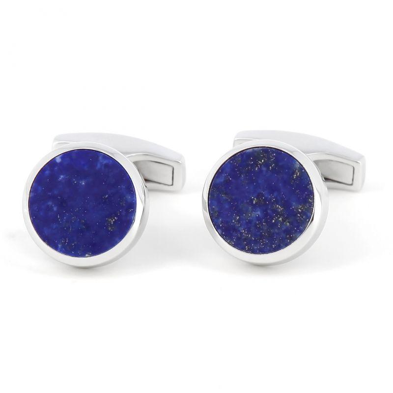 Boutons de manchette argent massif lapis lazuli - Saint-Honoré