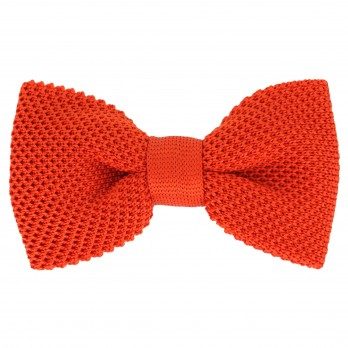 Noeud papillon orange en tricot de soie - Monza