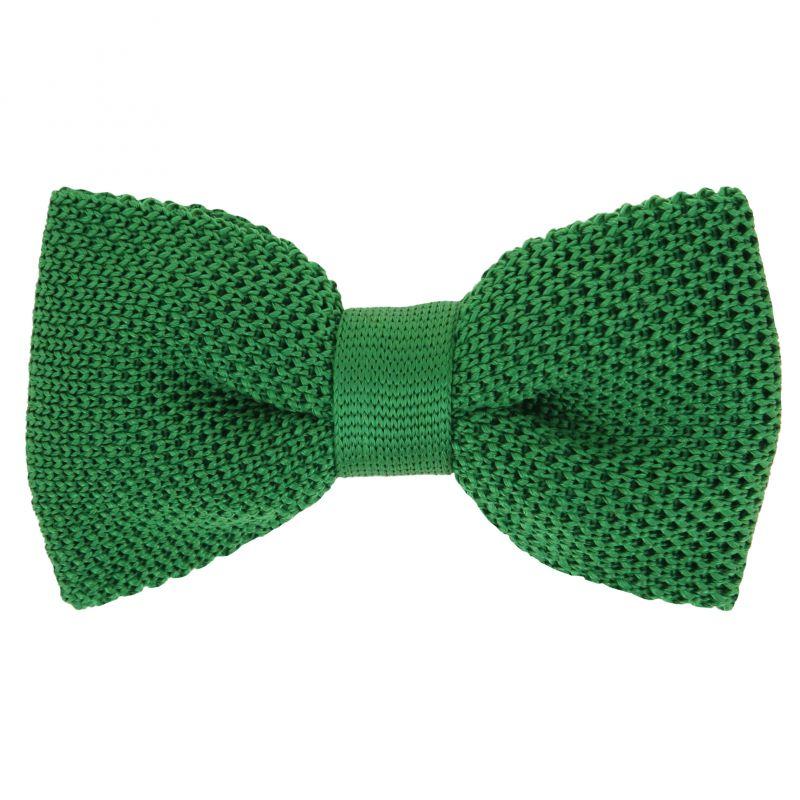 noeud papillon tricot vert gazon monza maison de la cravate. Black Bedroom Furniture Sets. Home Design Ideas