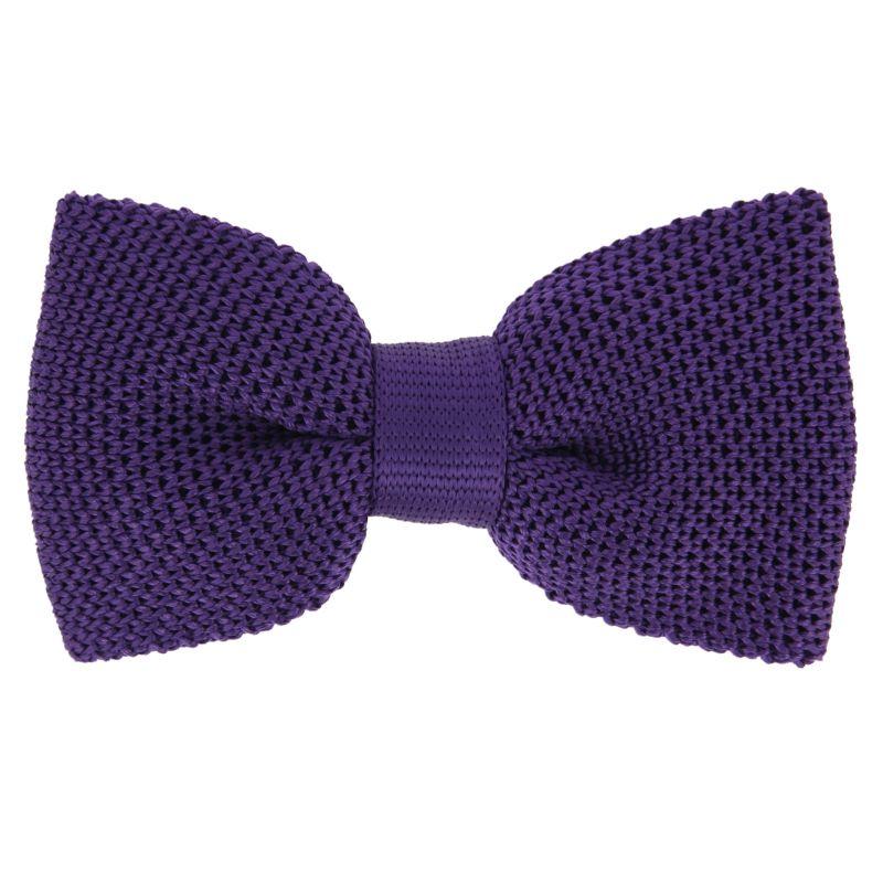 Noeud papillon violet en tricot de soie - Monza