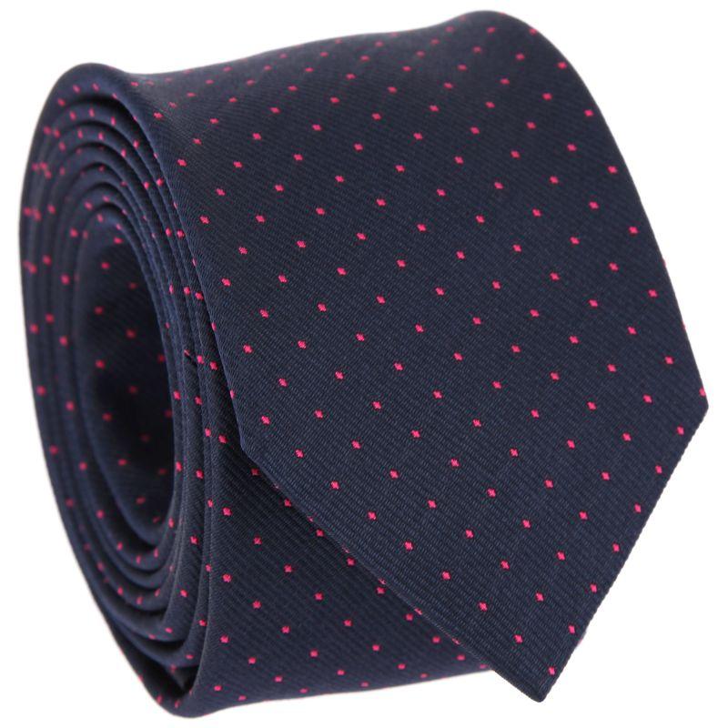 Cravate marine à pois fushia Washington II - Cravates 82c643fc82d