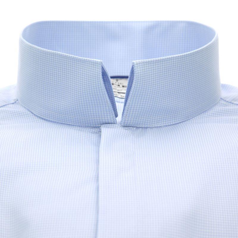 chemise bleu ciel pied de poule col invers tailored fit. Black Bedroom Furniture Sets. Home Design Ideas