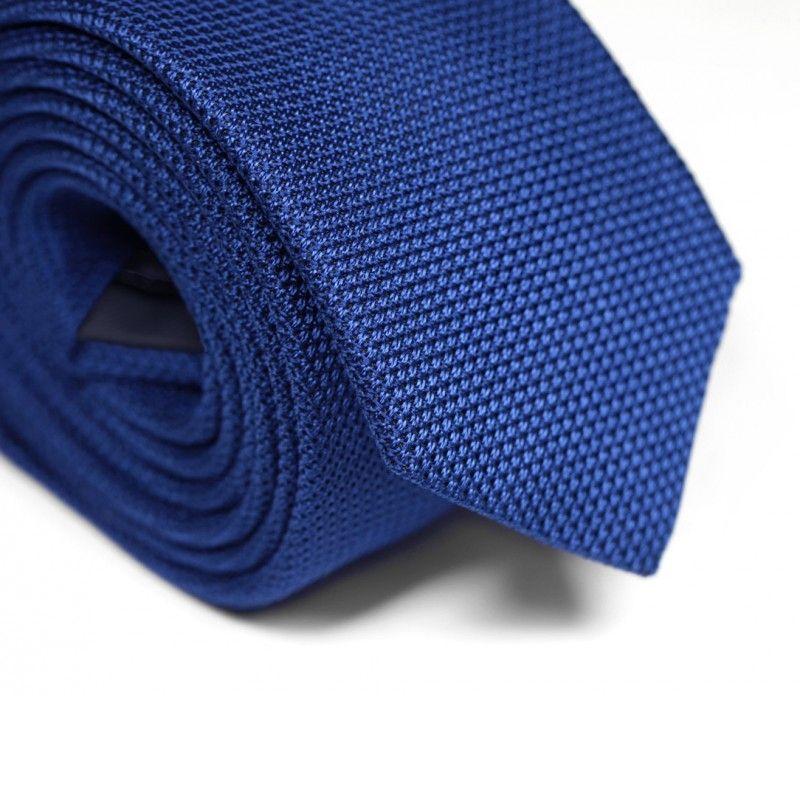 Cravate grenadine de soie bleue The Nines - Grenadines IV