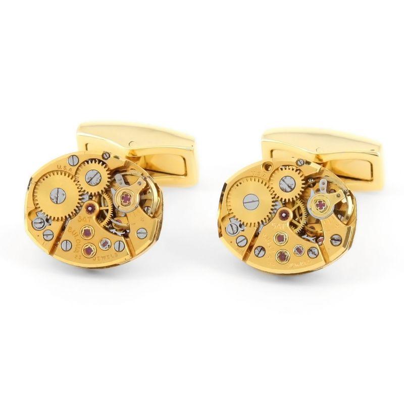 Boutons de manchette mouvement de montre - Bulova gold