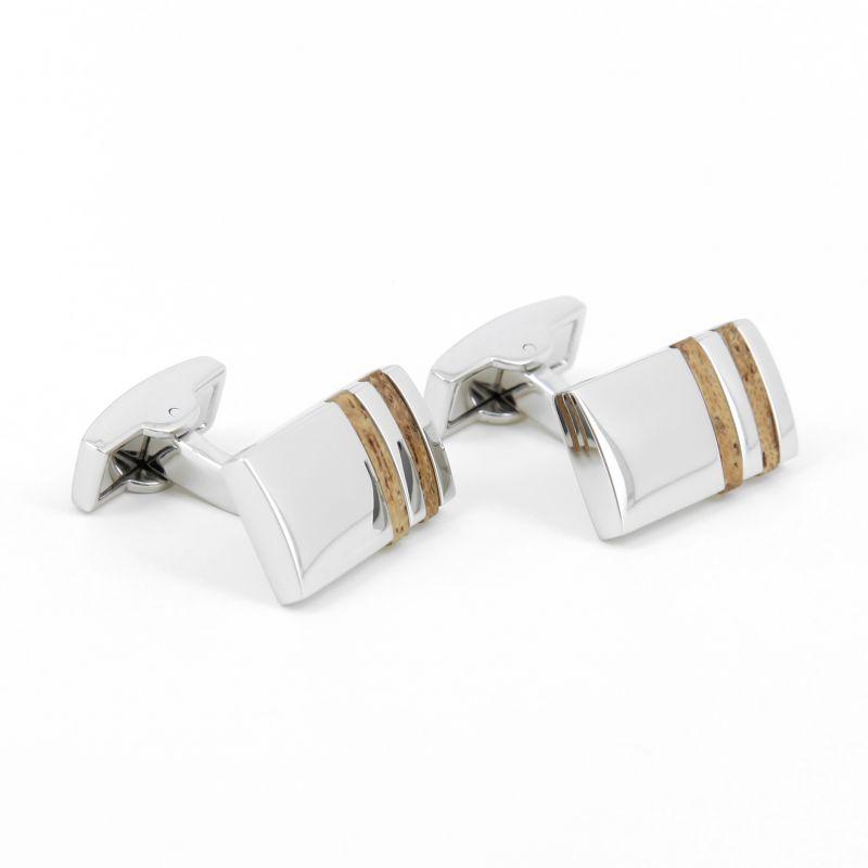 Boutons de manchette bois rectangulaires - Delphes