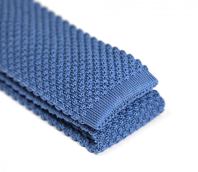 cravate tricot bleu roi manzano vente cravate maison de la cravate. Black Bedroom Furniture Sets. Home Design Ideas