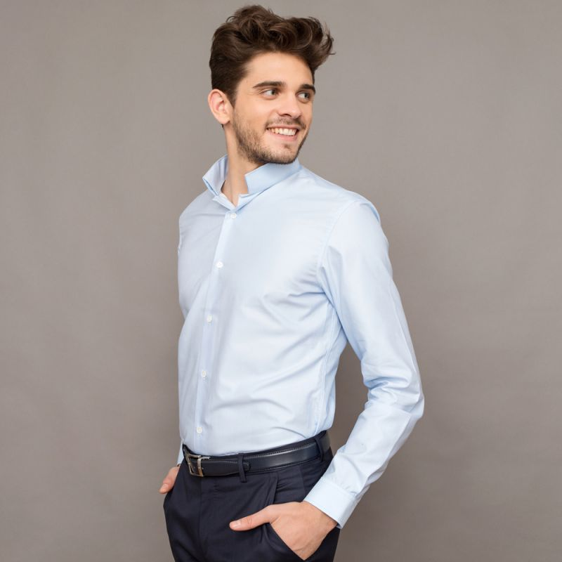 chemise bleu ciel col invers tailored fit the nines. Black Bedroom Furniture Sets. Home Design Ideas