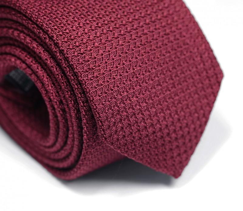 Cravate grenadine de soie bordeaux - Grenadines III