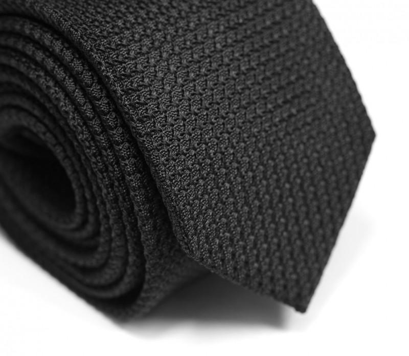 Cravate grenadine de soie noire - Grenadines III