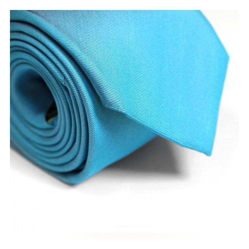 38513e6f5fd23 Cravate bleu turquoise Milan II - Cravates hommes - Maison de La Cravate